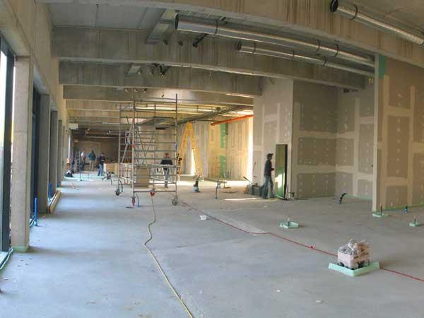 The building construction for new restaurant interior