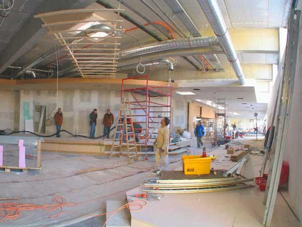 Restaurant interior design planning the ventilation