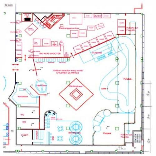 Indoor playground planning for a shopping center for Playground building plans