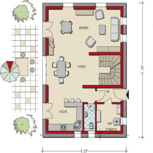 ground floor planning of your own home turnkey prefab concrete houses and massive houses from. Black Bedroom Furniture Sets. Home Design Ideas