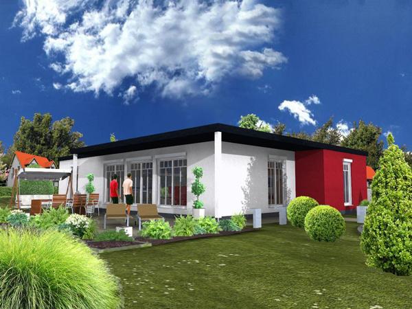 Leichtbeton fertighaus in bungalow bauweise auch als for Massiv fertighaus bungalow