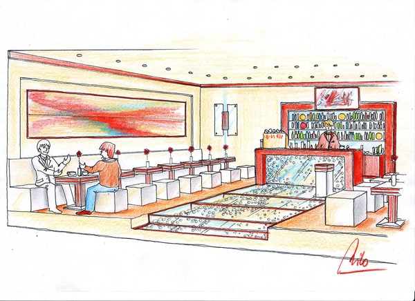 Glass bar interior design planning vision for Interior visions designs