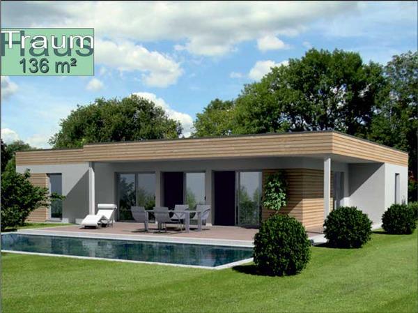 sehr formsch ner eleganter holz fertigteil bungalow nuovo. Black Bedroom Furniture Sets. Home Design Ideas