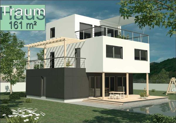 Fertigteilhaus holz  Modernes Holz Fertigteilhaus ADI - 162 m² - zu einem ...
